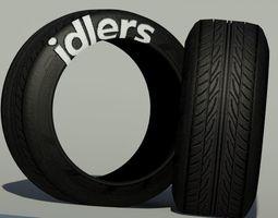 Uv Mapped Tyre 3D