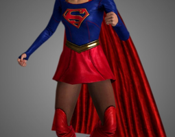Supergirl - TV Show LowPoly 3D model