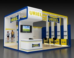 3D model 6x5Mtr Stand