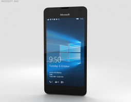 3D Microsoft Lumia 550 White smartphone