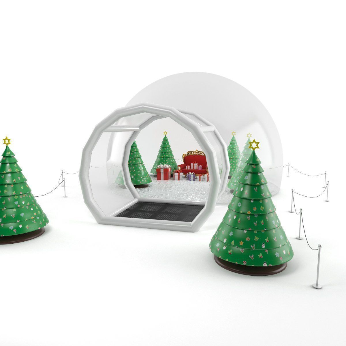 Inflatable Snow Globes 3D model | CGTrader