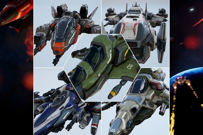 Spaceships Essential Pack - game models