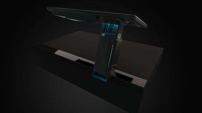 control desk 3d model max fbx abc 1