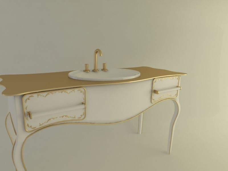 Ready For Render Royal Bathroom Sink 3D Model MAX