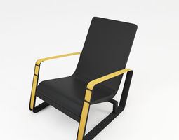 3D model Arm chair ZX