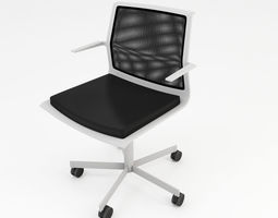 Mesh office chair 3D