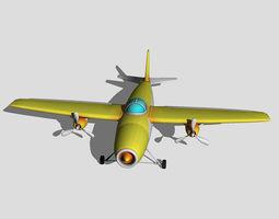 Jet Plane 3D model realtime