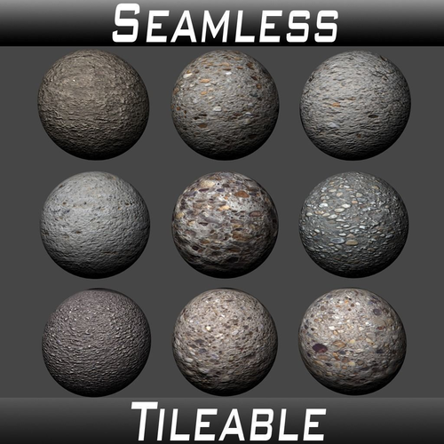 concrete textures pack 2 3d model  1
