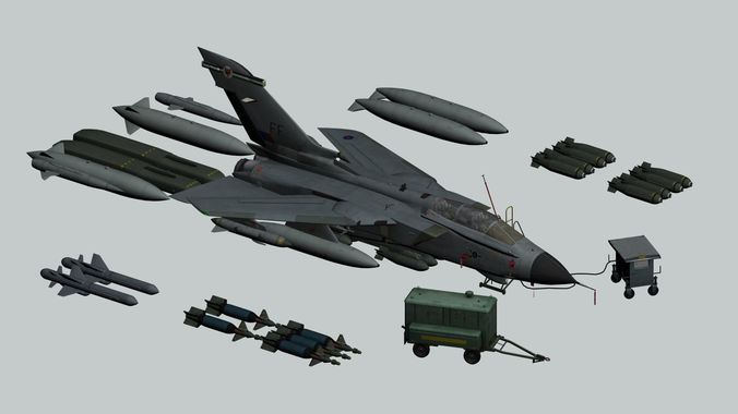 tornado gr1 3d model animated max 1