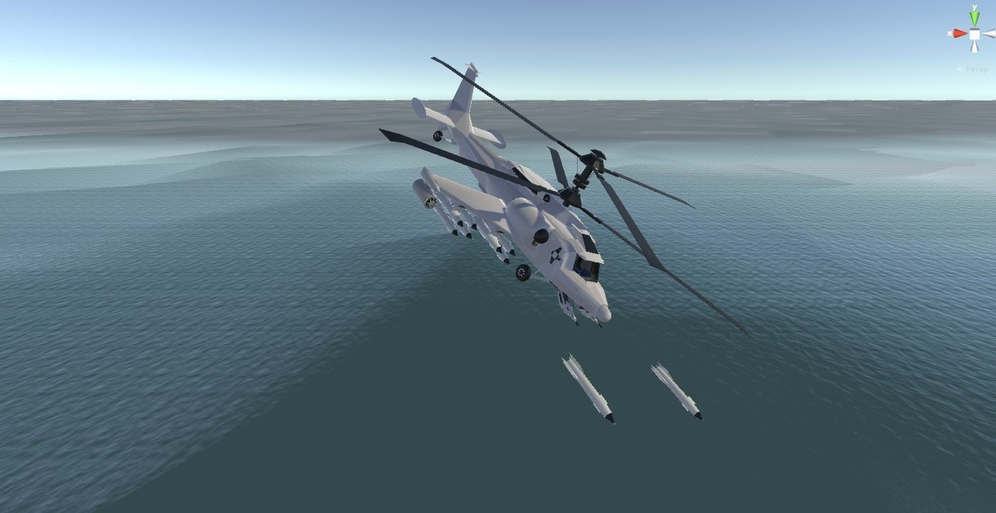 Fantasy Military Helicopter - Arctic Battle Bear - for games