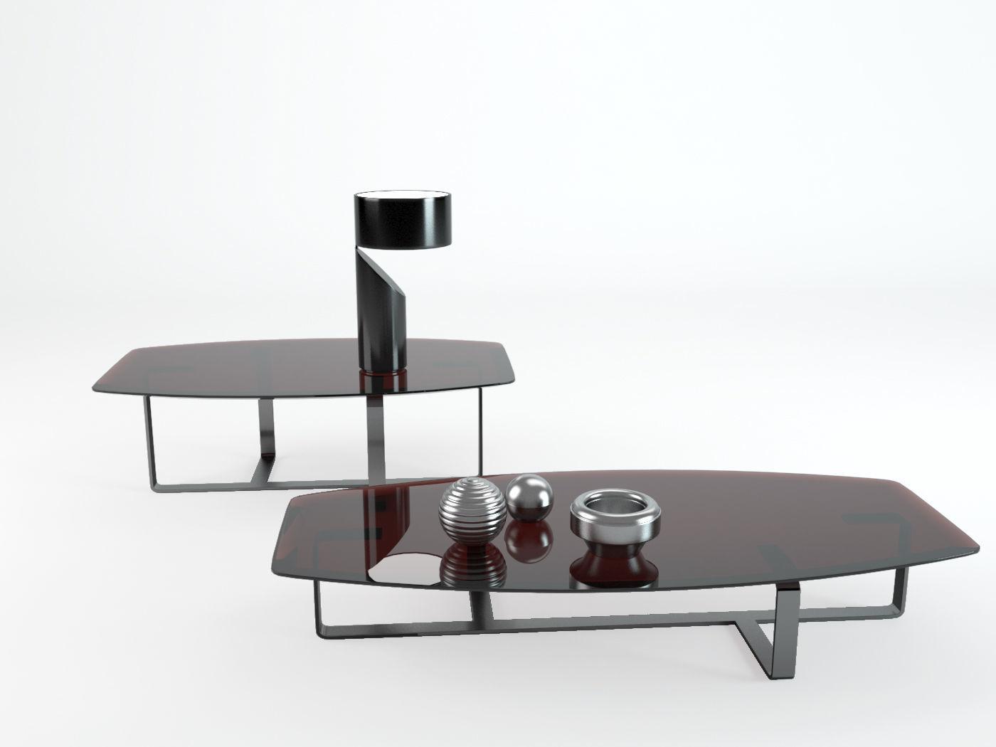 Coffee Tables Table Tempo Natuzzi 3d Model Max Obj Fbx Mtl
