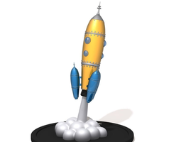 Spaceship cartoon 02 3D