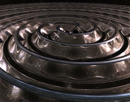 3D model gravitational waves