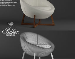 POD LOUNGE CHAIR BARBARA BARRY No 6740C 3D model