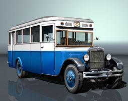 ZIS-8 city bus 3D model