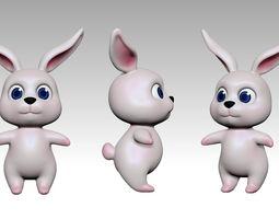 VR / AR ready Bunny 3d model Low Poly