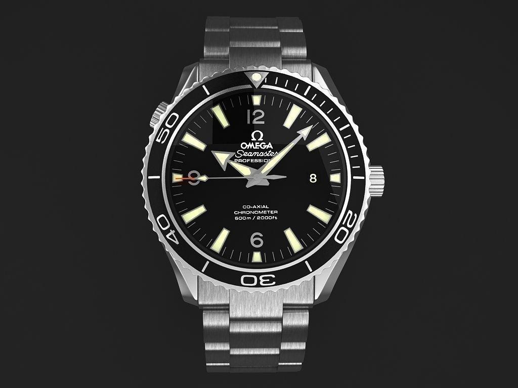 Omega Seamaster Planet Ocean Steel Braclet Mens Watch