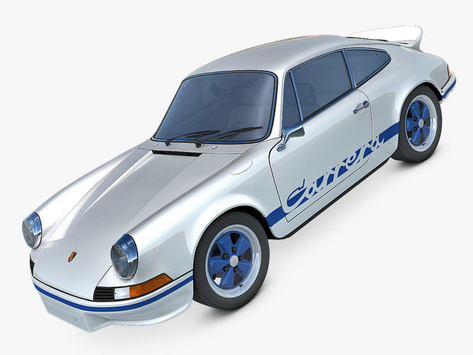 porsche 911 carrera rs 1973 3d model max fbx c4d dae 1