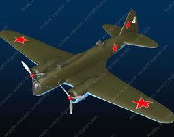 Aircraft DB-3 plane 3D model