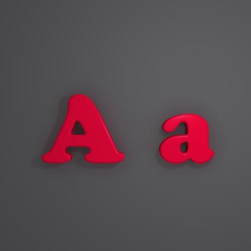 letters alphabet 02 3d model max obj mtl fbx 1