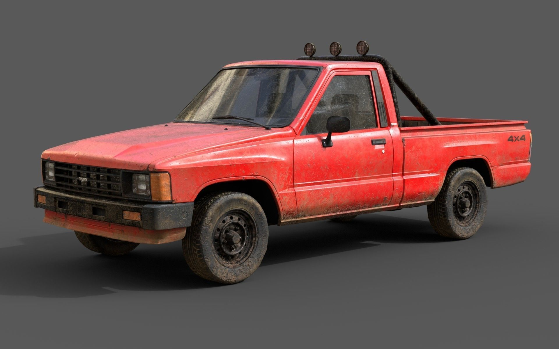 Toyota Hilux 1983-1988 pickup Game Ready
