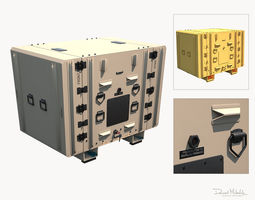 3D asset Military Shipment Case PBR