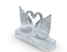 sculpture Ice Swan 3D