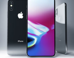 3D Apple iPhone X series3