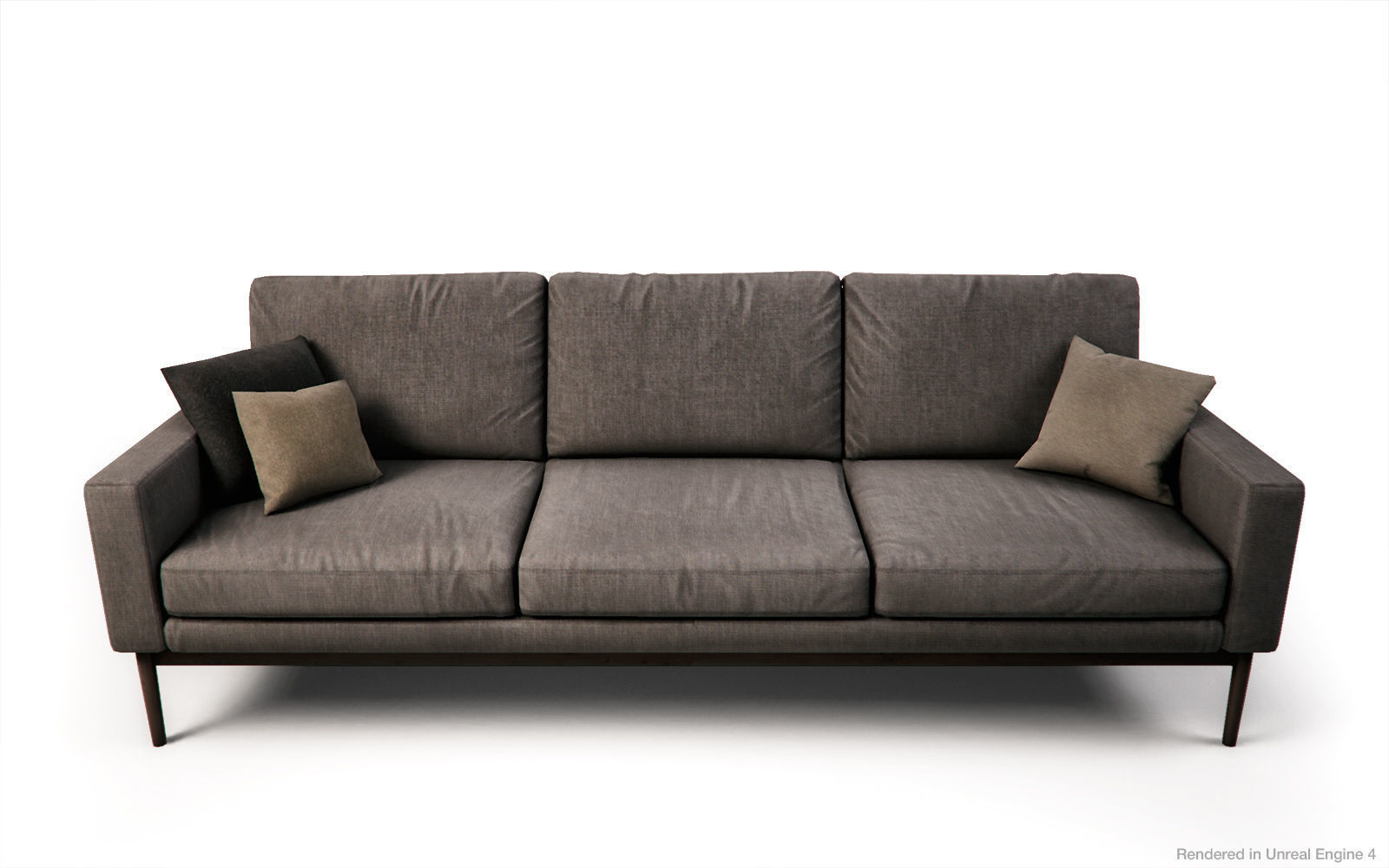 Scandinavian style Sofas and Armchair PBR Game 3D asset