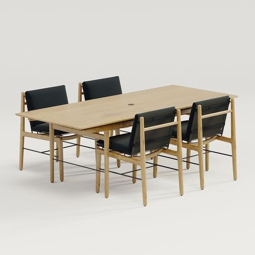 Dwr Finn Dining Table And Chair Model