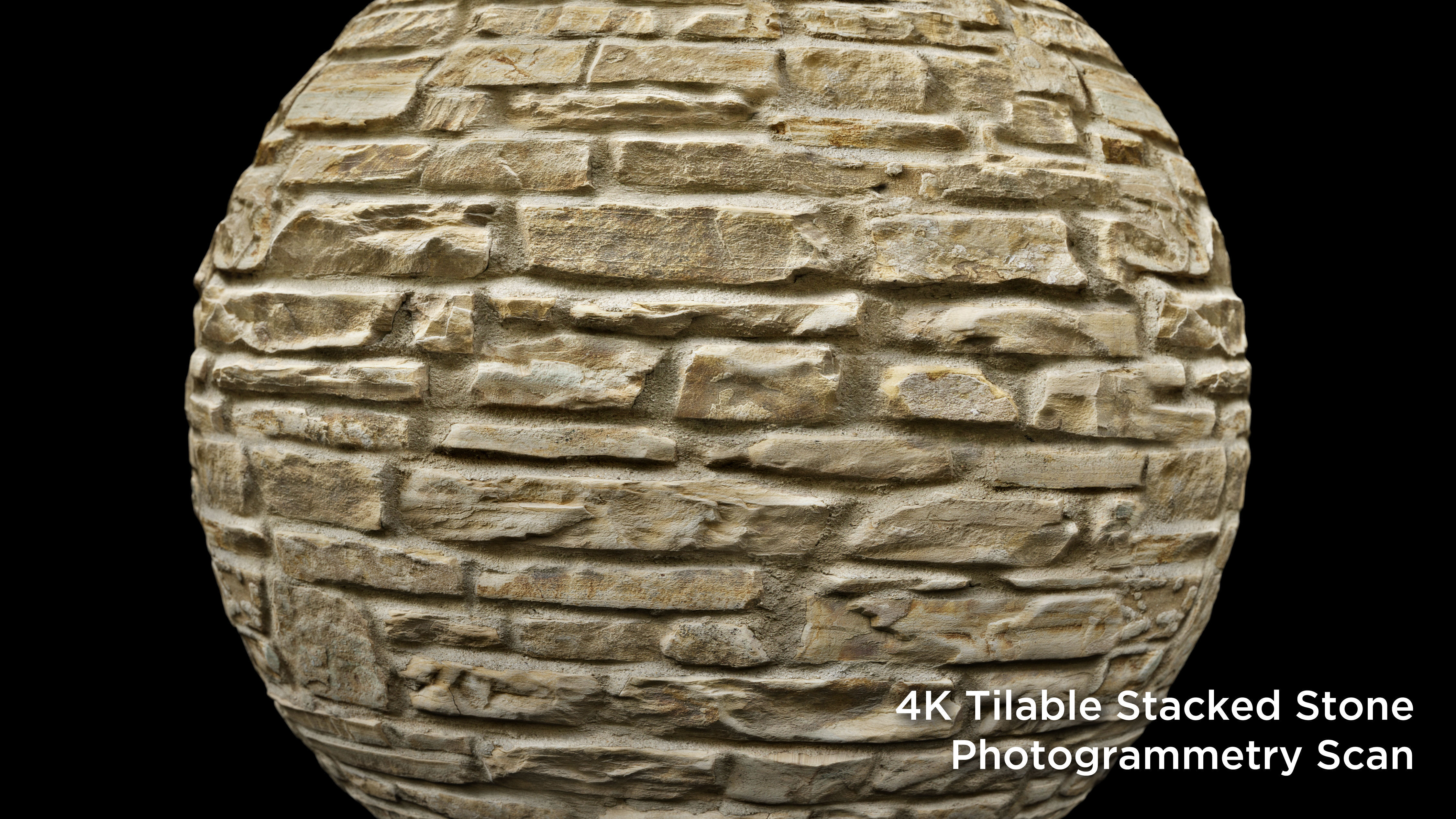 Stacked Stone Texture Tileable 4k Photogrammetry Scan 3d Model