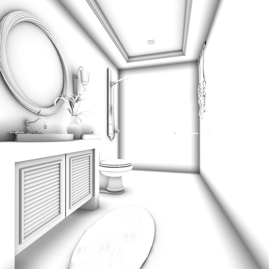 bathroom design complete model 65   CGTrader