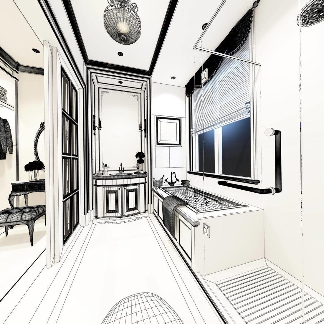 bathroom design complete model 78   CGTrader
