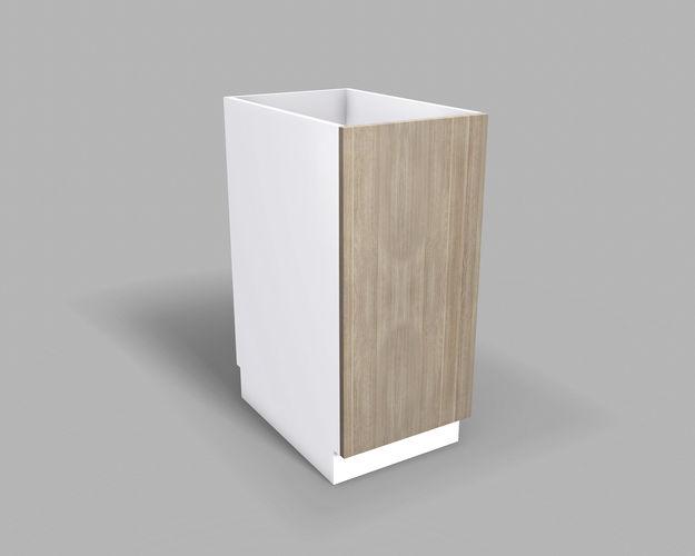 40 Base Cabinet #40 - Kitchen Base Cabinet 40 Cm 3d Model Low-poly Obj 3ds Fbx Dae Mtl 1 ...