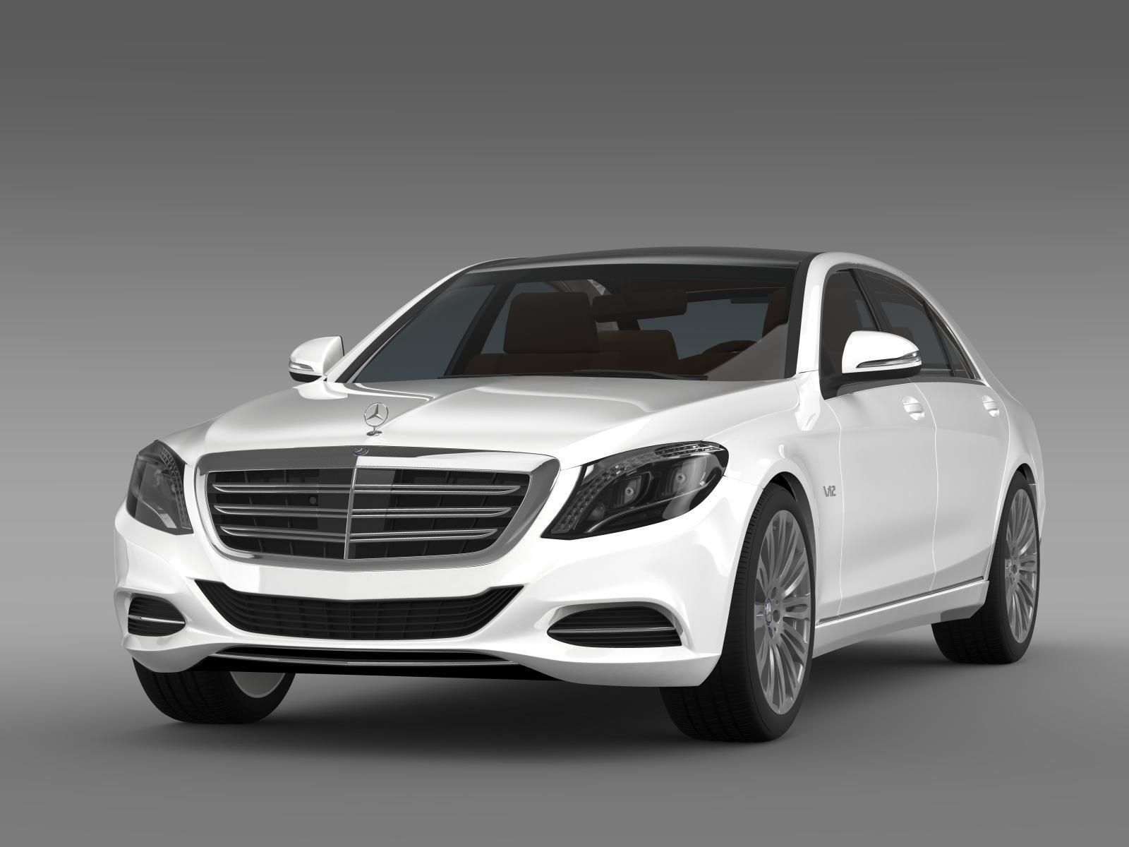 mercedes benz s 600 v12 w222 2014 3d model max obj 3ds fbx
