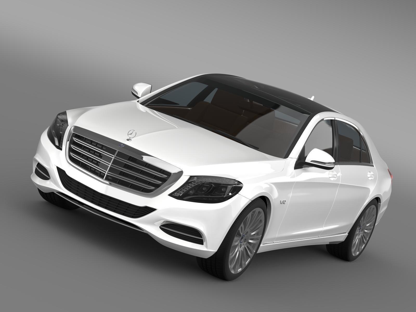 Mercedes benz s 600 v12 w222 2014 3d model max obj 3ds fbx for Mercedes benz model