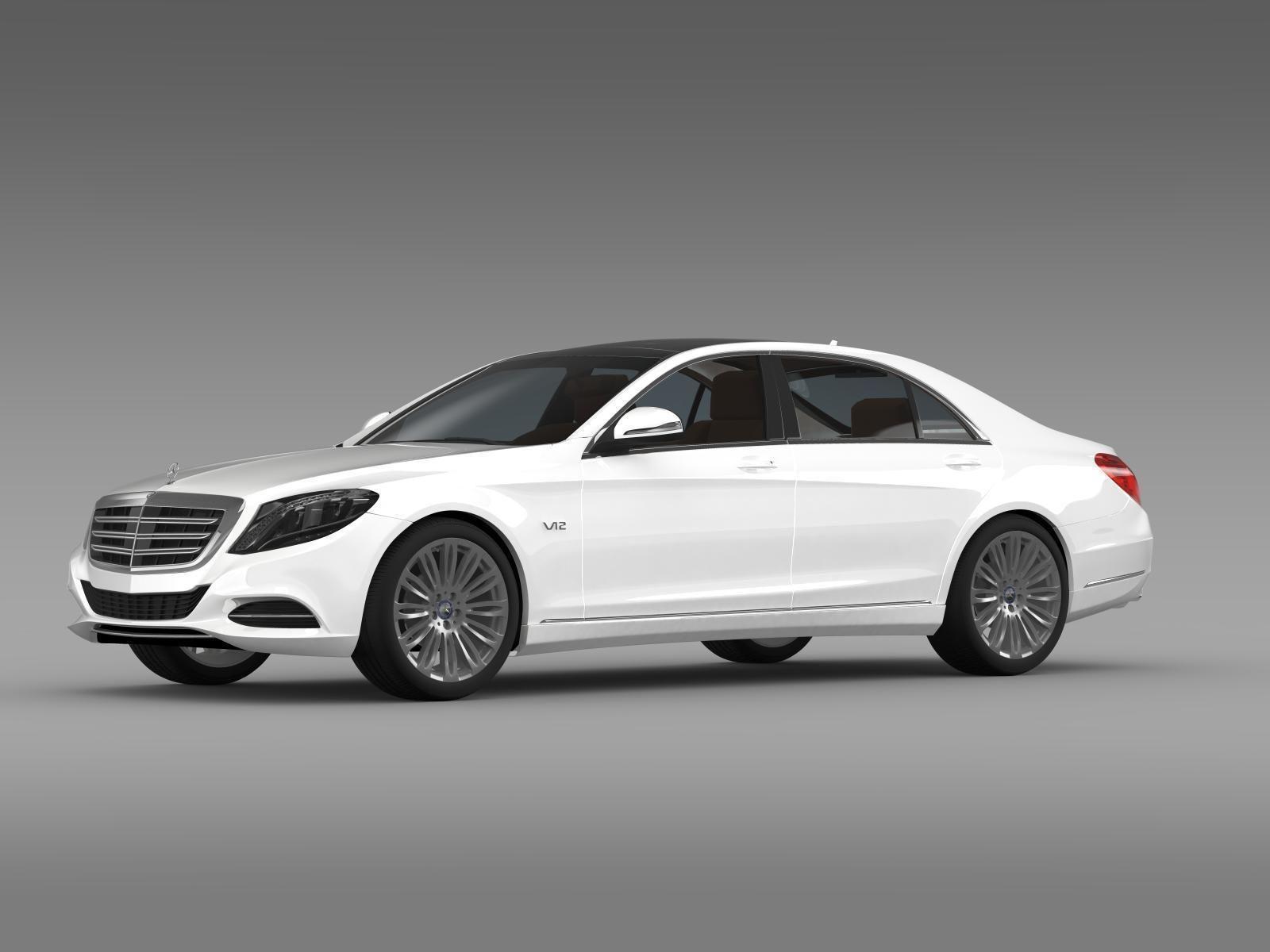 Mercedes benz s 600 v12 w222 2014 3d model max obj 3ds fbx for Mercedes benz model s
