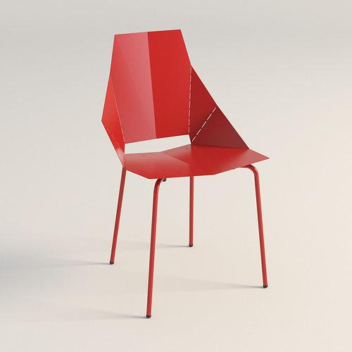 real good chair blu dot 3d model low-poly max obj mtl 3ds fbx unitypackage prefab 1