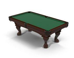 Pool Table D Models CGTrader - Revit pool table