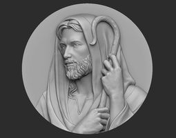 3D printable model Jesus The Good Shepherd Medallion
