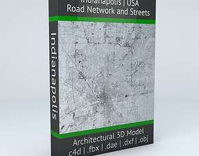 3D Indianapolis Road Network and Streets