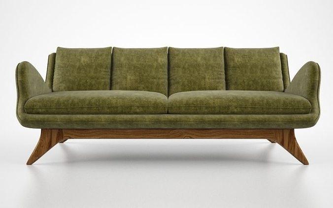 Vladimir Kagan Venetian Sofa Model Max Obj Mtl Fbx 1