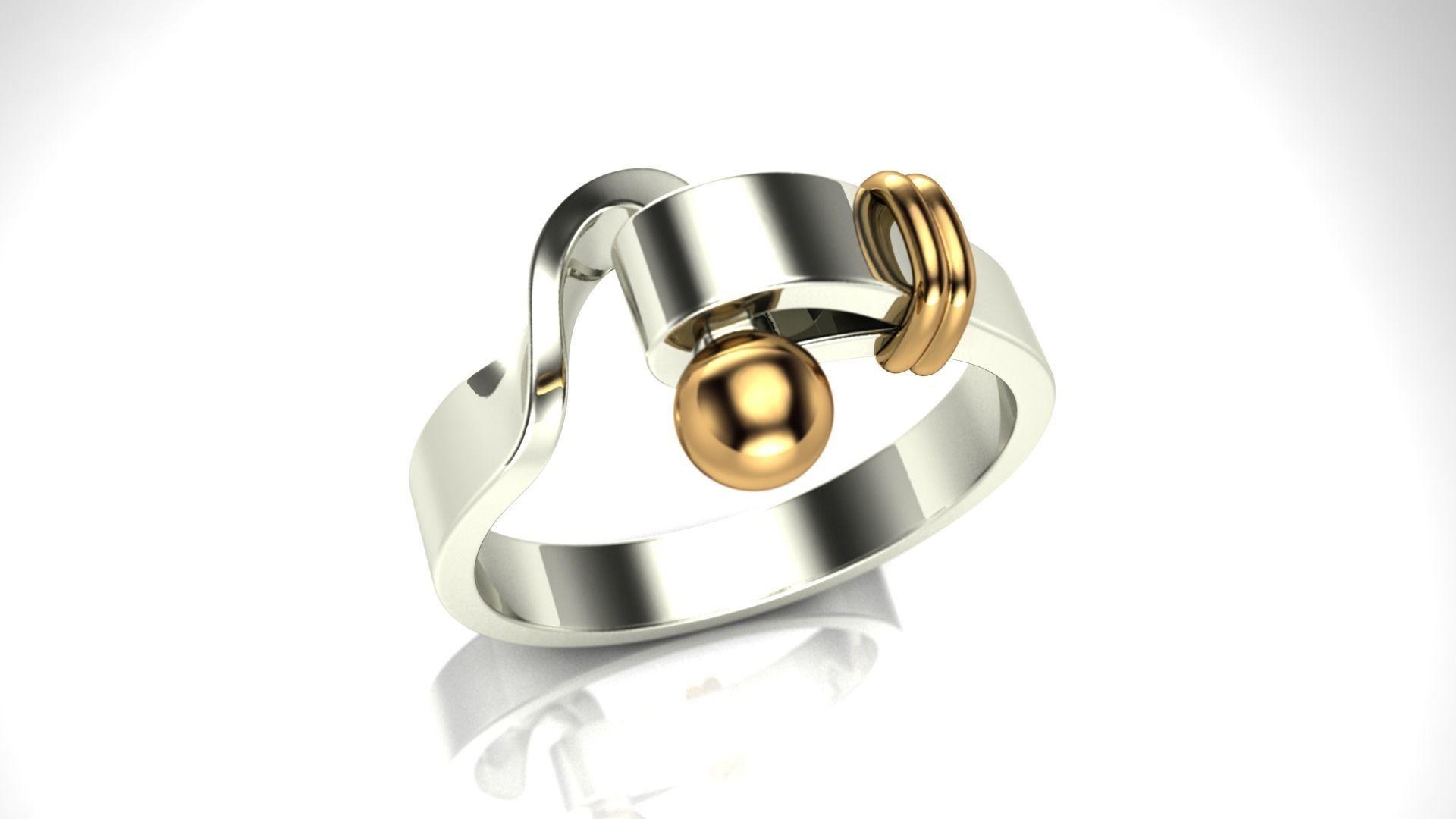 unique ring design 2 3d printable model cgtrader