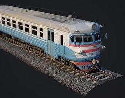 realtime New train 3D Models Russian