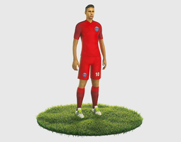 Neymar football Player game ready character 3D model