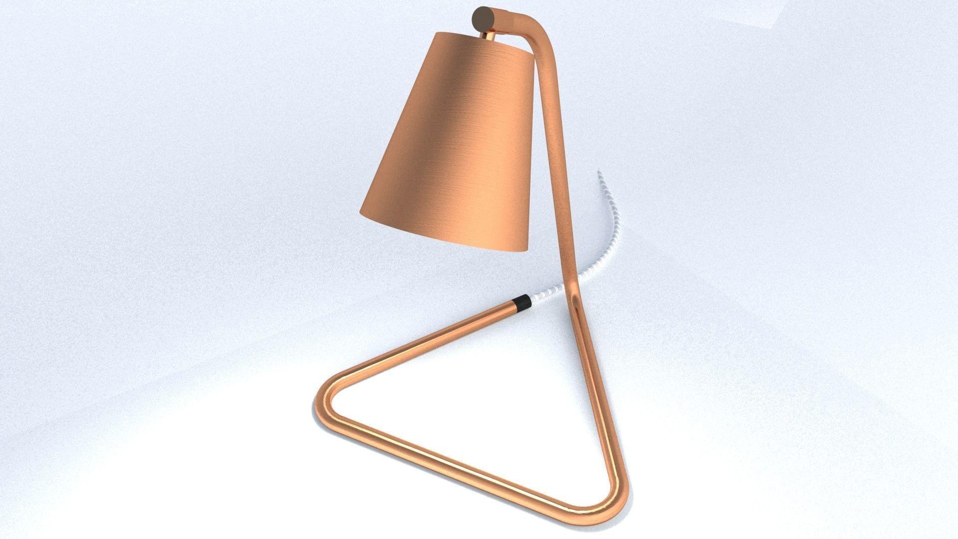 Bent Copper Pipe Table Lamp   3D model