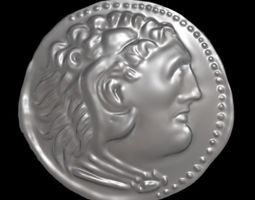 Alexander the great coin 3D printable model