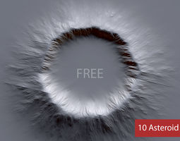 10 Free Asteroid Alphas - Brush Zbrush Free 3D