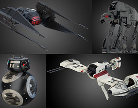 3D Star Wars Last Jedi collection