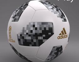 3D model low-poly adidas Telstar 18 World Cup PBR Ready